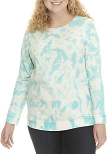 Plus Size Tie Dye Sweatshirt