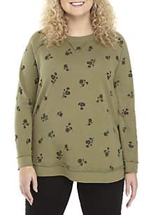 Plus Size Floral Print Sweatshirt