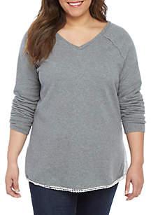 d93b85ad068fa ... TRUE CRAFT Plus Size Tunic Sweatshirt
