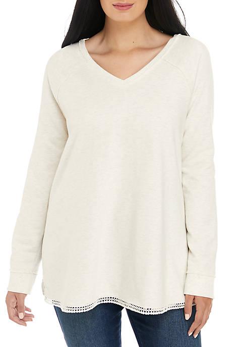 Plus Size Tunic Sweatshirt