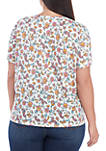 Plus Size Printed Crew Neck T-Shirt