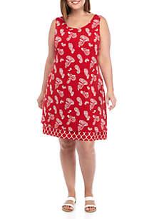 af9971c3b85 ... Kim Rogers® Plus Size Paisley Tank Dress