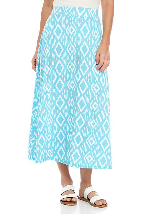 Printed Knit Skirt