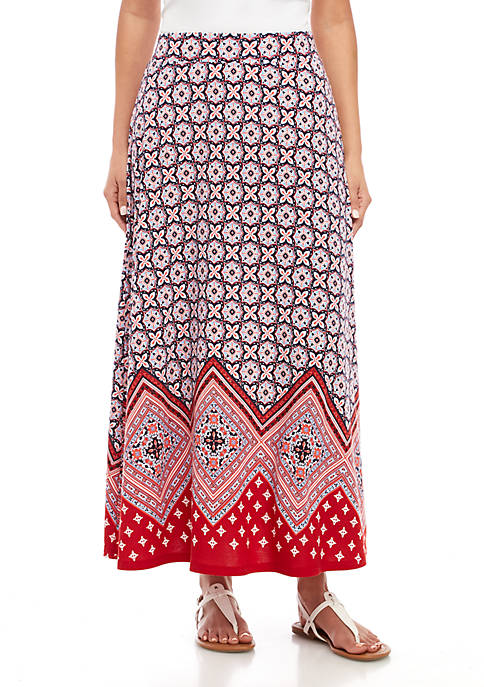 Printed Knit Skirt
