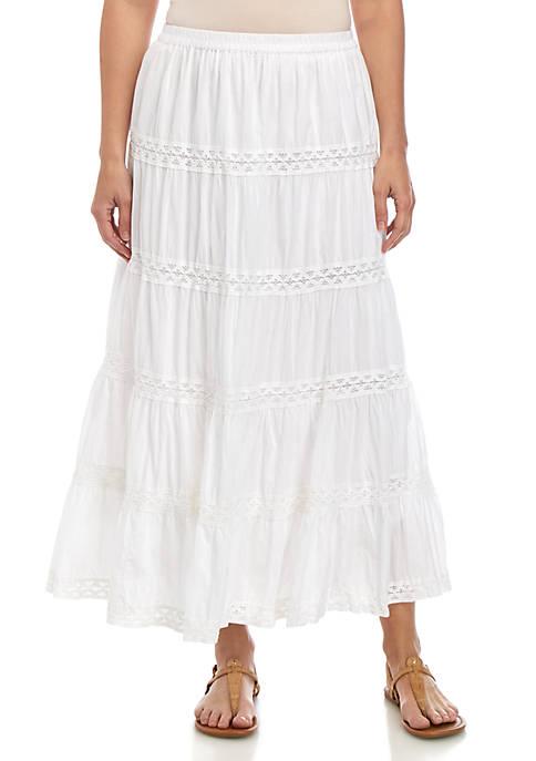 Kim Rogers® Woven Crinkle Skirt