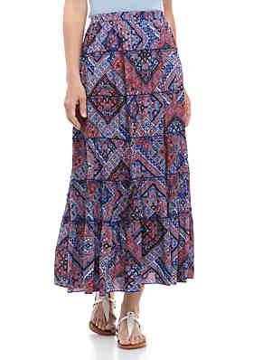 c9af9eaa3014 Kim Rogers® Printed Woven Skirt ...