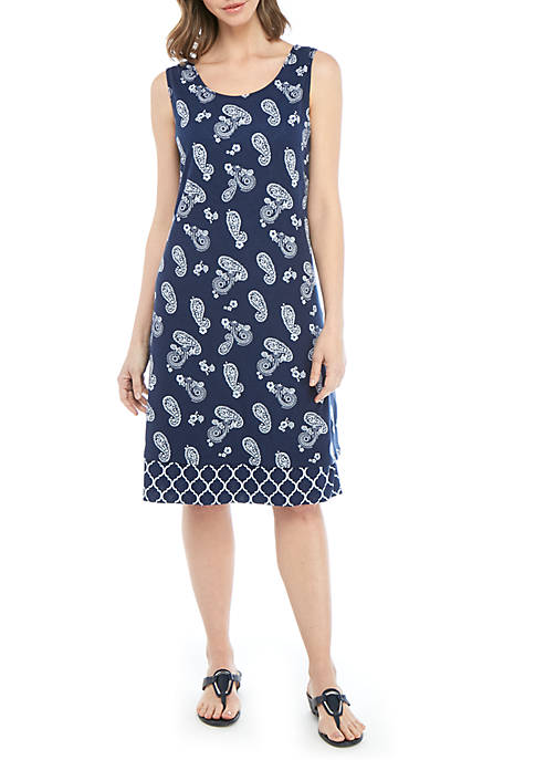 Kim Rogers® Petite Sleeveless Reversible Flip Flop Dress