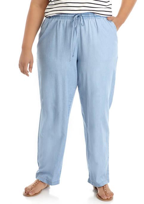 Plus Size Soft Pants