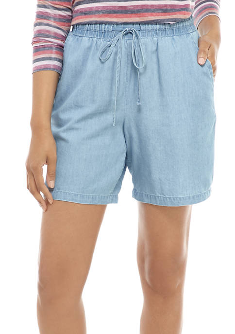 Womens Soft Chambray Shorts