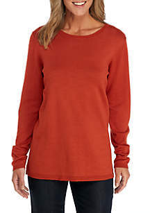 Long Sleeve Sweater With Gold Buttons
