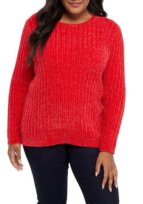 Kim Rogers® Plus Size Chenille Pullover