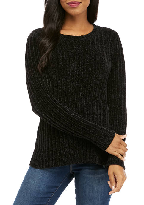 Kim Rogers® Womens Ribbed Tunic Sweater