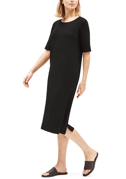 Eileen Fisher Womens Short Sleeve Slit Front Tencel™