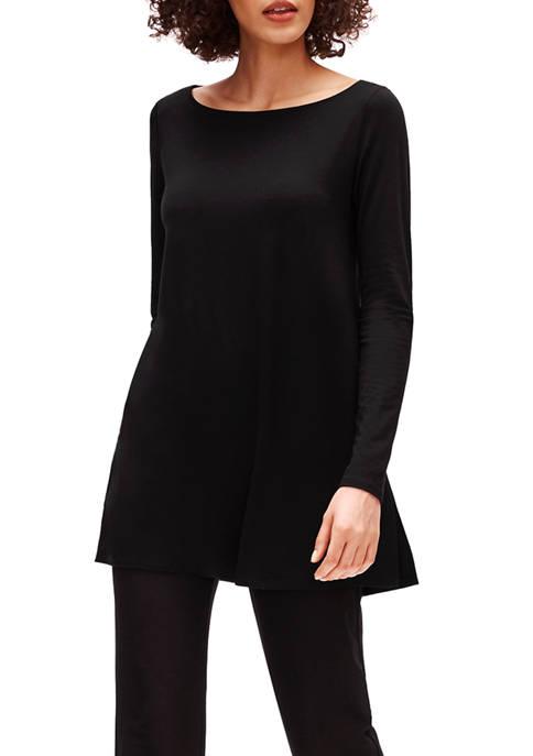 Eileen Fisher Womens Bateau Neck Tencel™ Jersey Tunic