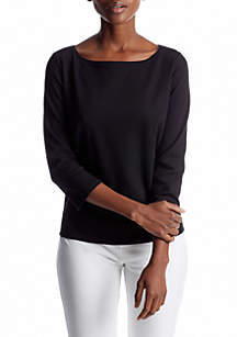 Ballet Top with Three-Quarter Sleeves