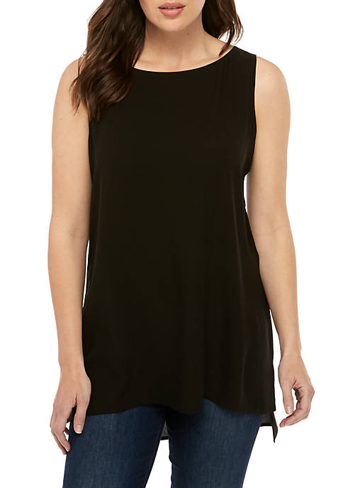 Eileen Fisher Boat Neck Long Shell Top