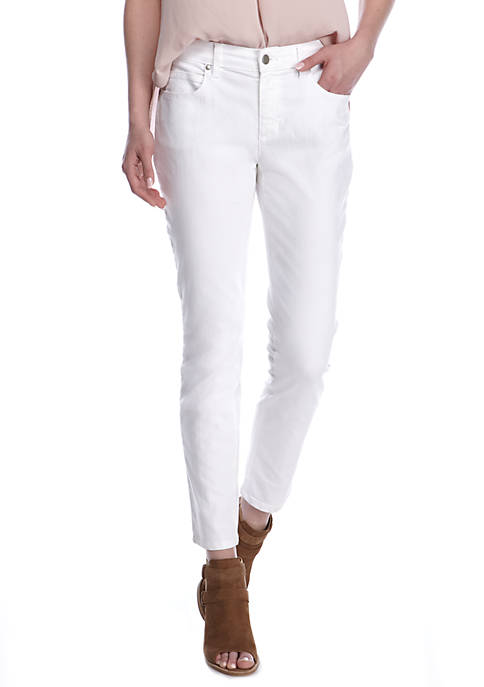 Eileen Fisher White Skinny Leg Pants