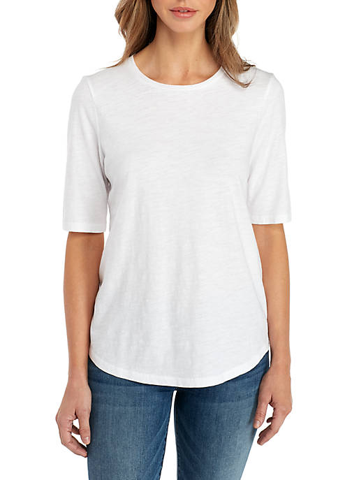 Eileen Fisher Round Neck Organic Cotton Tee
