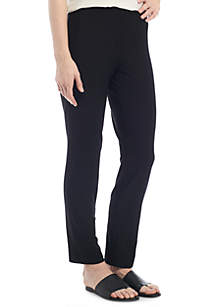 Slim Ankle Pants With Yoke