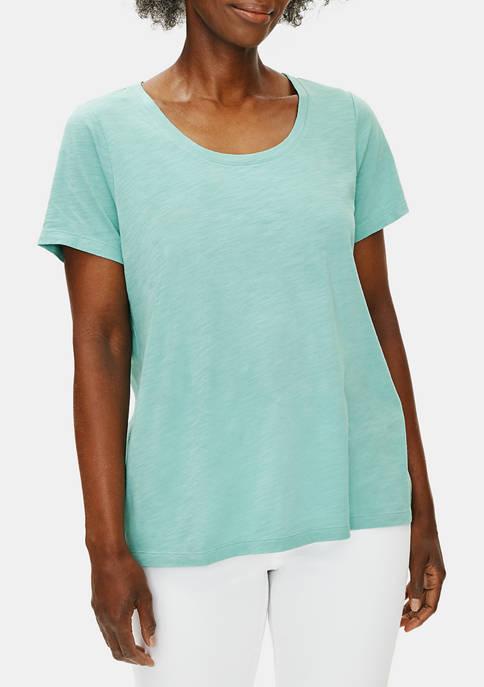 Womens Scoop Neck Short Sleeve T-Shirt