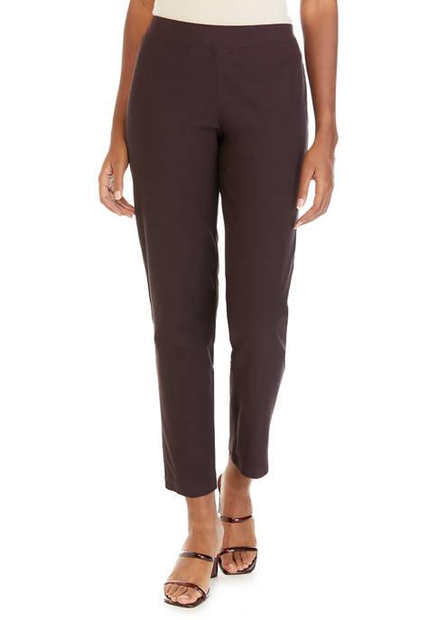 Womens Slim Ankle Pants