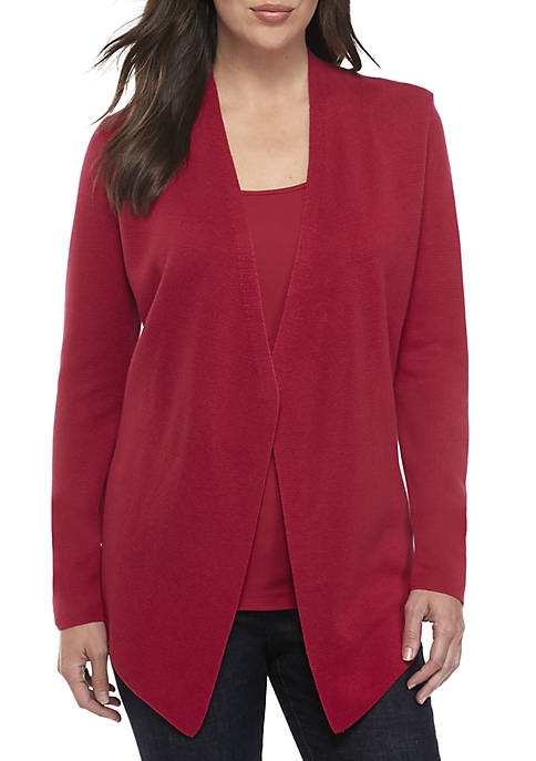 Eileen Fisher Angle Front Tencel Silk Cardigan
