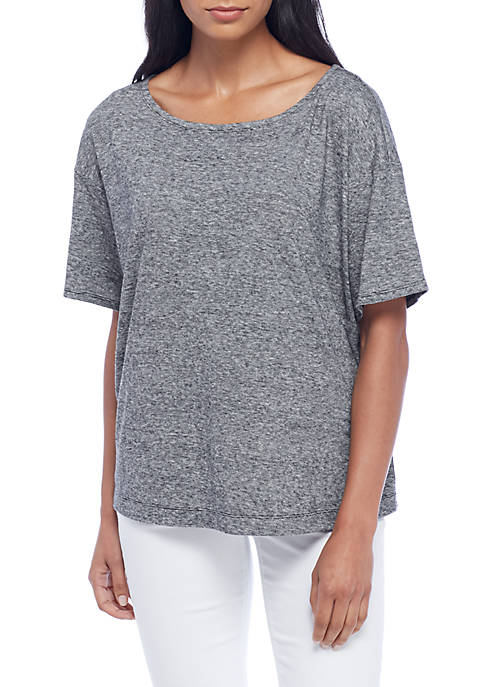 Eileen Fisher V-Neck Cap Sleeve Tee