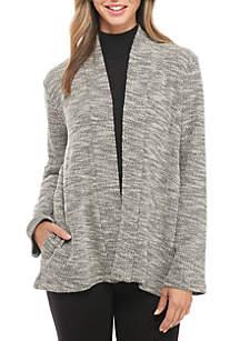 Jacquard Knit Kimono Jacket