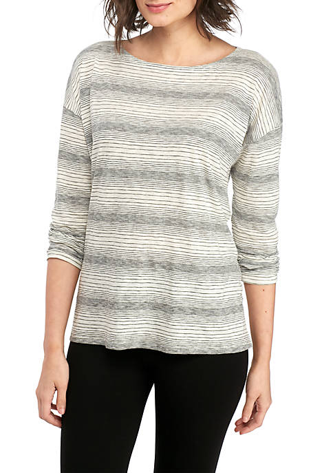 Eileen Fisher Ballet Neck Boxy Tee