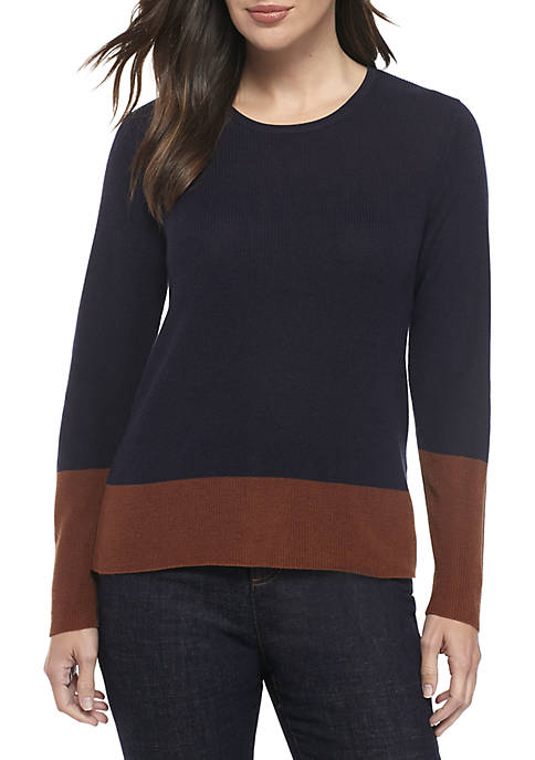 Eileen Fisher Round Neck Tencel Silk Top