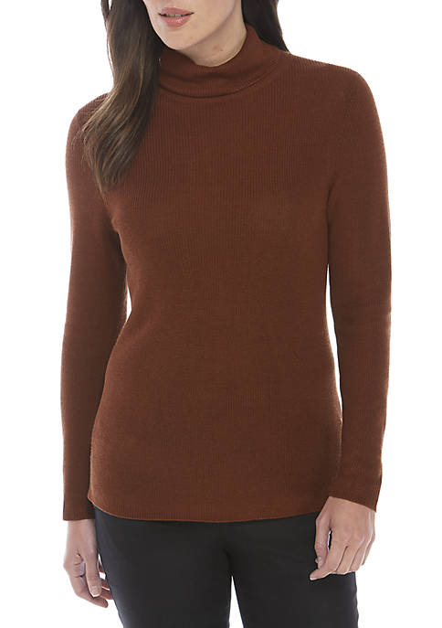 Eileen Fisher Turtleneck Tencel Silk Sweater