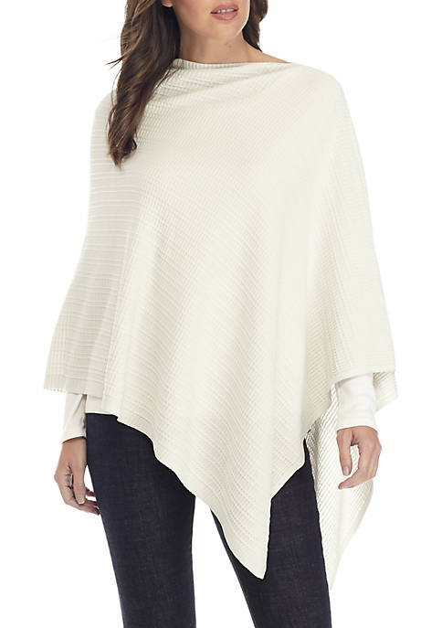 Eileen Fisher Silk And Organic Cotton Poncho