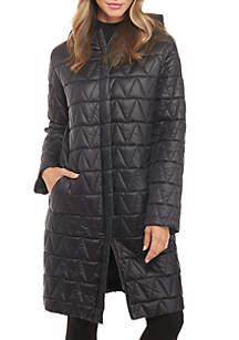 Hooded Chevron Coat