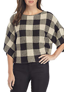 Organic Linen Knit Bateau Neck Top