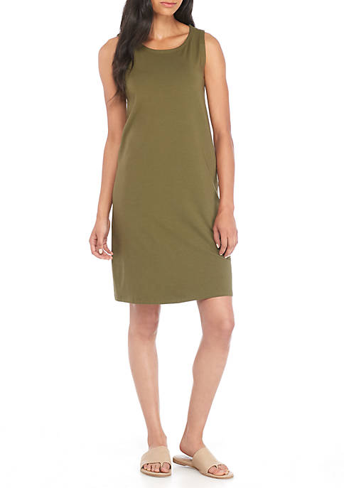 Eileen Fisher Bateau Neck Shift Dress