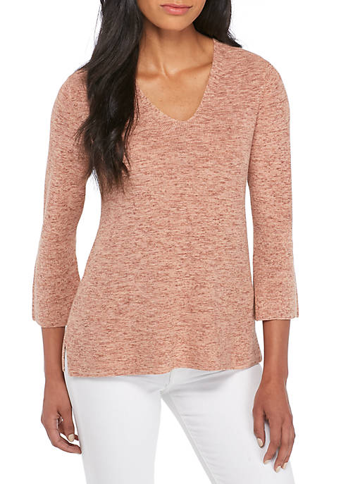 Eileen Fisher V-Neck Bell Sleeve Top