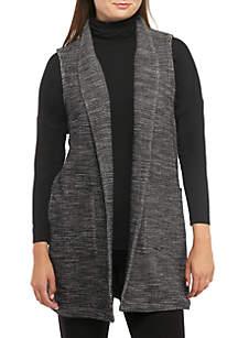 Cotton Tweed Long Vest