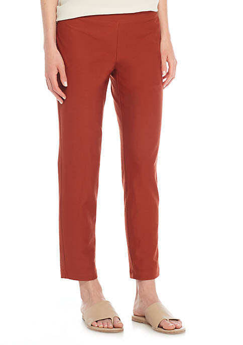 Eileen Fisher Slim Capris with Yoke