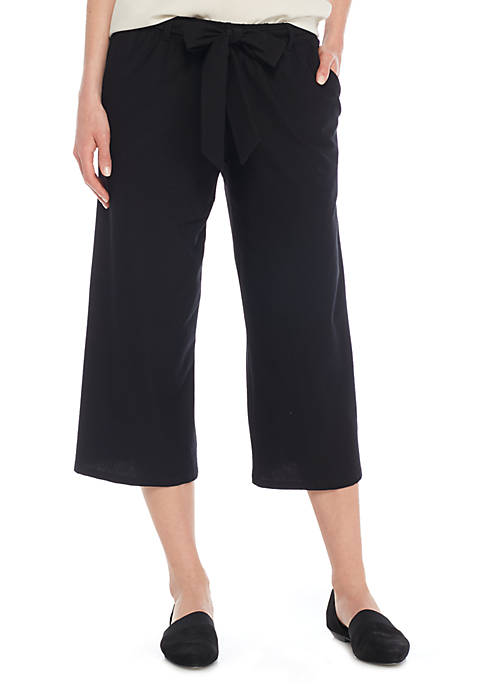 Eileen Fisher Wide Crop Pants with Tie