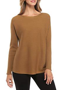 Bateau Neck Tencel Silk Sweater