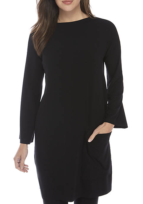 Eileen Fisher Funnel Neck Jersey Tunic