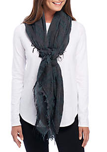 Scarf Wool Stripe Scarf