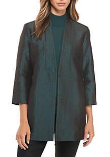 Shawl Collar Jacquard Jacket