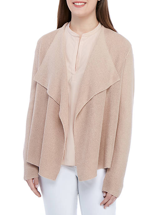 Eileen Fisher Drape Front Sweater Cardigan