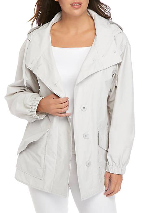 Shirttail Hood Nylon Jacket