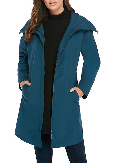 High Collar Nylon Jacket