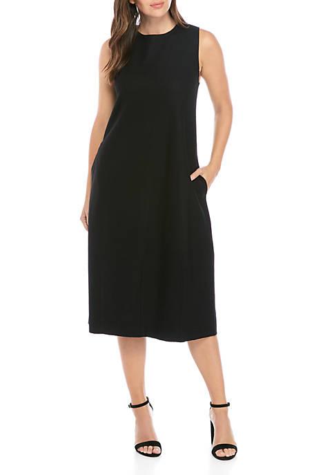 Eileen Fisher Boiled Wool Lantern Dress