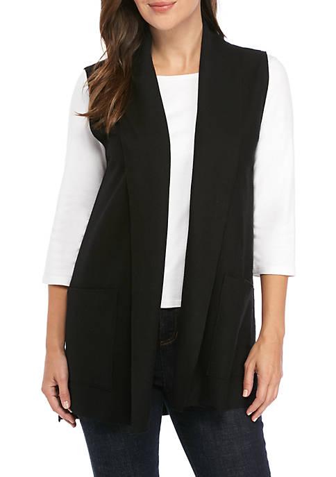 Shawl Collar Wool Vest
