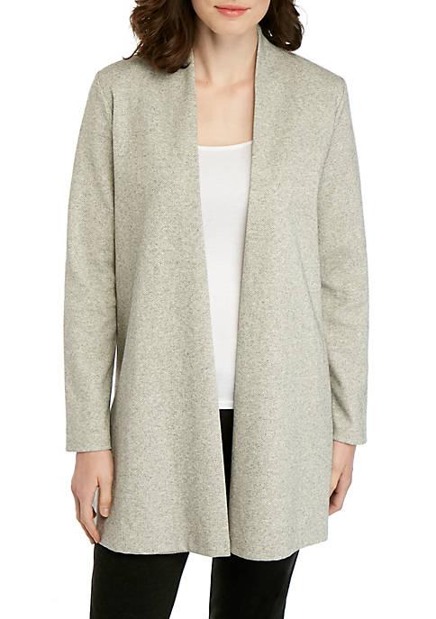 Eileen Fisher Herringbone Side Slit Jacket