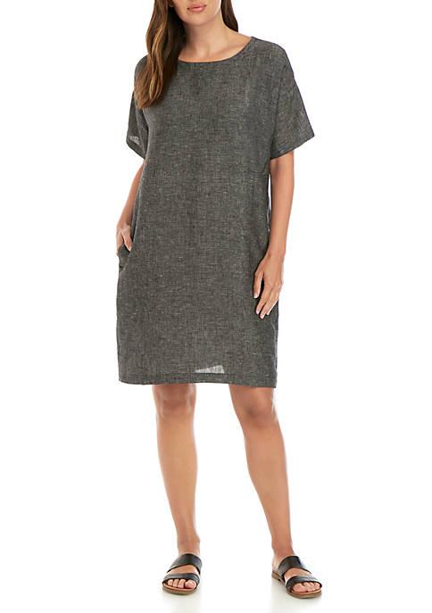 Eileen Fisher Tweed Elbow Sleeve Dress